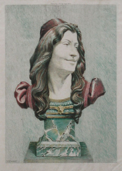 Florentine Head (Bust in Ivory and Bronze)
