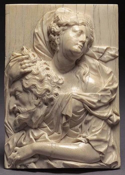 Judith with the Head of Holofernes, ivory relief, 14.7 x 10 cm